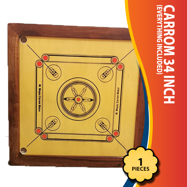 Carrom 34 inch (Everything included)