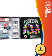 Poker 100 Chips Tin Box