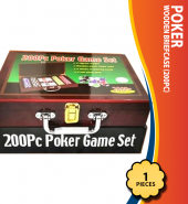 Poker Wooden Briefcase (200Pc)