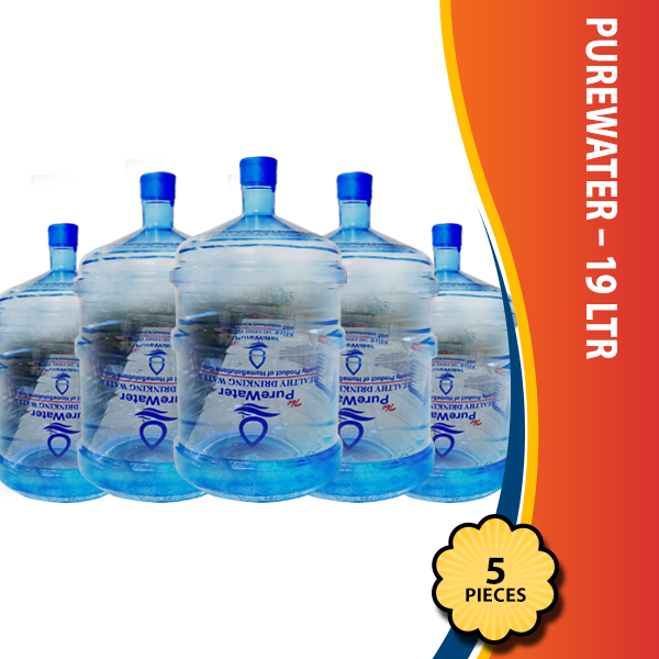 PureWater – 19 Ltr – Pack of 5